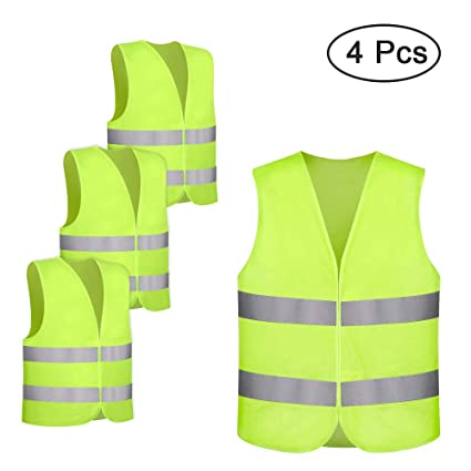 High Visibility Safety Work Vest Breathable Mesh Vest Crease-Resistance Security & Protection