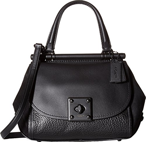 COACH Women's Mixed Leather Drifter Top-Handle MW/Black Satchel by Coach
