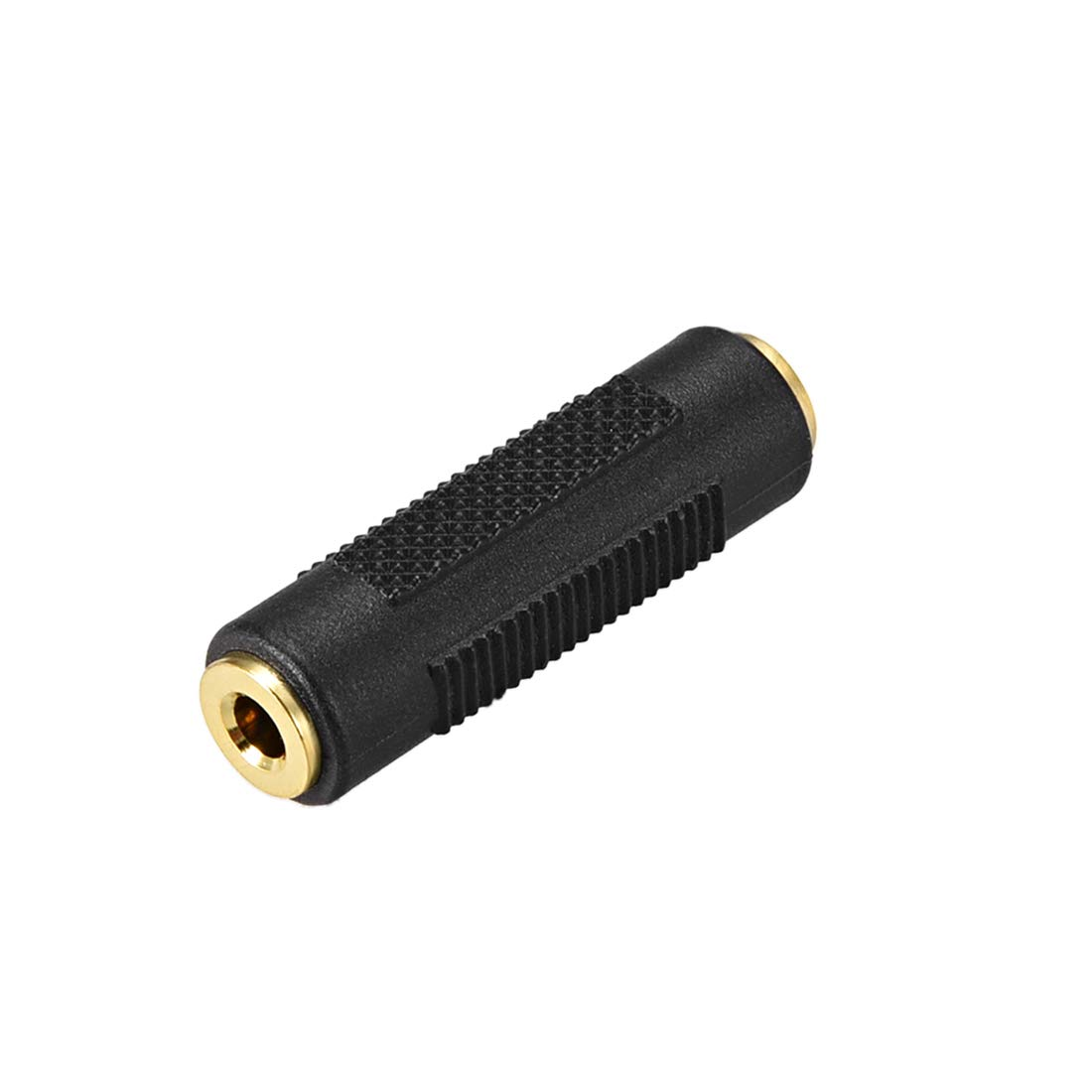 uxcell 3.5mm Female to Female Connector Splitter Adapter Coupler Black for Stereo Audio Video AV TV Cable Convert