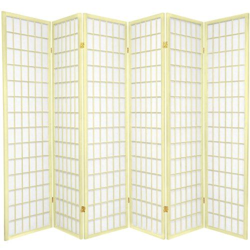 (Oriental Furniture 6 ft. Tall Window Pane - Special Edition - Ivory - 6 Panels)
