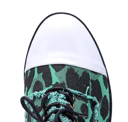 Schuhtempel24 Damen Schuhe Halbschuhe Flach Grün