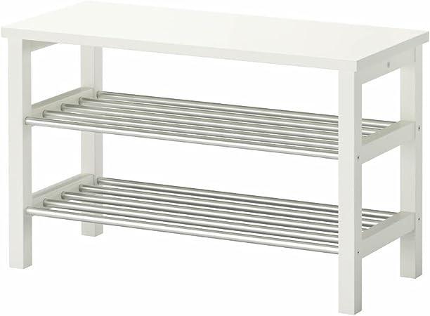 Ikea Asie Tjusig Banc Avec Rangement Chaussures Blanc Amazon Fr Cuisine Maison