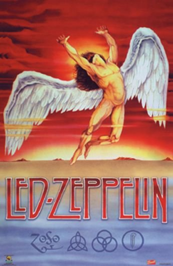 Amazon.com: Led Zeppelin - Swan Song, Wall Poster, 23.5x35.5 ...