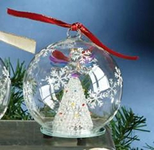 StealStreet SS-UG-HD-0376 Christmas Light Up Glass Ornament Ball - Rainbow Angel