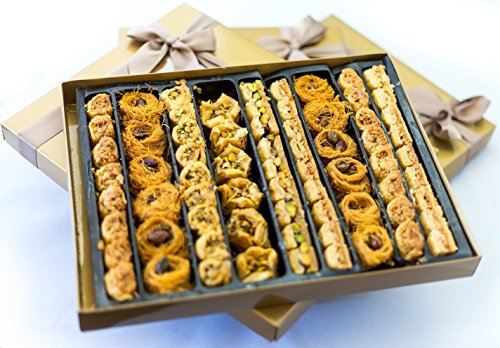 Desserts Baklava - Baklava Assorted Gift ★ Petit Gourmet Arabian Sweets ★ 70 Piece Pastry ★ Gold Thank You Dessert Box ★ Buy 1 Get 2nd 15% OFF