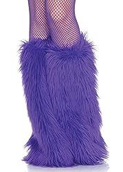 Leg Avenue Women's Furry Leg Warmers, Purple, One Size
