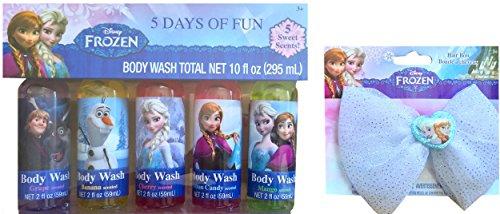 Disney Frozen 5 Days of Fun Body Wash Total Net 10 Fl Oz 5 S
