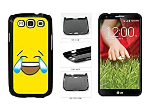 Bright Yellow Laughing Crying Smiley Face Plastic Phone Case Back Cover Samsung Galaxy S3 I9300
