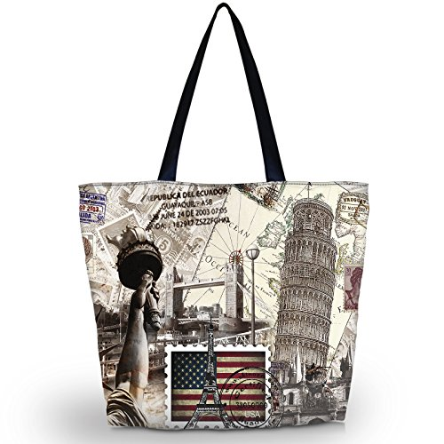 Totes Bags for Stamp Overnight Beach Tote Shopping USA Bag Handbag Travel Zippered Tote Foldable Women Waterproof wtw15CqcH