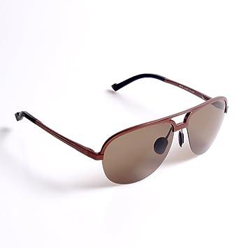 keuoo Fashion de conducción gafas de sol polarizadas para hombre Al-Mg metal frame-