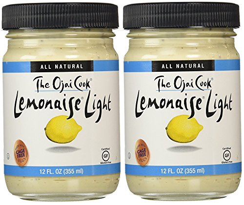 Lemonaise Light - A Zesty Citrus Mayo - All Natural Light Lemon Mayonnaise For Sandwich Spreads, Dips, and Dressings - 12 Ounce Jar (Pack of 2)