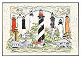 Heritage Puzzle Donna Elias - Florida Lighthouse Collage - Jigsaw Puzzle - 550 Pc