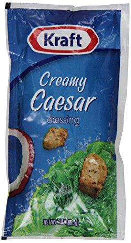 Kraft Signature Creamy Caesar Salad Dressing Packet, 2 oz. (Single serve salad dressings) Pack of (Easy Caesar Salad Dressing)