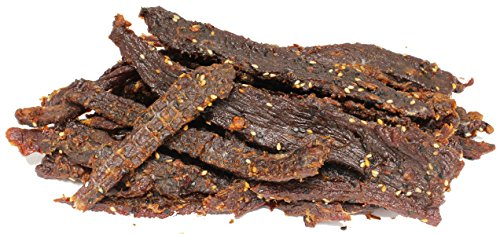 People's Choice Beef Jerky - Tasting Kitchen Small Batch - Garlic Ginger - Camping Food, Backpacking Snacks, Road Trip Snacks - High Protein Low Sodium Healthy Snacks - 1 Pound, 16 oz - 1 Bag