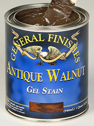 General Finishes Wood Stain (General Finishes Antique Walnut Gel Stain Pint)