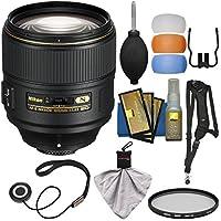 Nikon 105mm f/1.4E AF-S ED Nikkor Lens with HMC UV Filter + Sling Strap + Diffuser Filter Set + Kit
