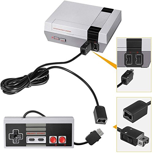 Veanic 2pcs Classic Gamepad Controller + 2pcs Extension Cable Cord for Nintendo NES Classic Mini Edition by Veanic (Image #2)