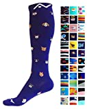 special blend pants - Compression Socks (1 pair) for Women & Men by A-Swift - Graduated Athletic Fit for Running, Nurses, Flight Travel, Skiing & Maternity Pregnancy - Boost Stamina & Recovery (Doggy, S/M)