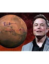 Elon Musk Autographed 8x10 Glossy Photo