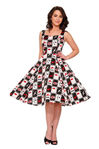 [Hearts & Roses Deuces Wild Dress (14)] (60s Inspired Costumes)