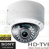 USG Business Grade Sony DSP 1080P 2MP High Definition CCTV Dome Security Camera With Deep Base: 1920x1080 HD Resolution, 2.8-12mm Vari-Focal Lens, 30x IR LEDs : TVI, CVI, AHD and Analog Format