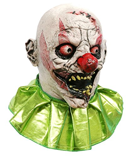 Stitches The Clown Scary Adult Halloween Latex Mask FS006 (Killer Clown Halloween Costumes)