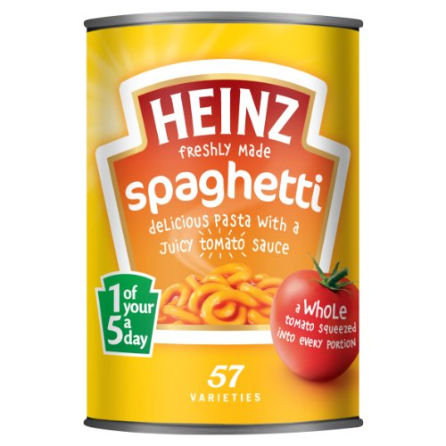 Heinz Spaghetti in Tomato Sauce, 13.3-Ounce Cans (Pack of 8)