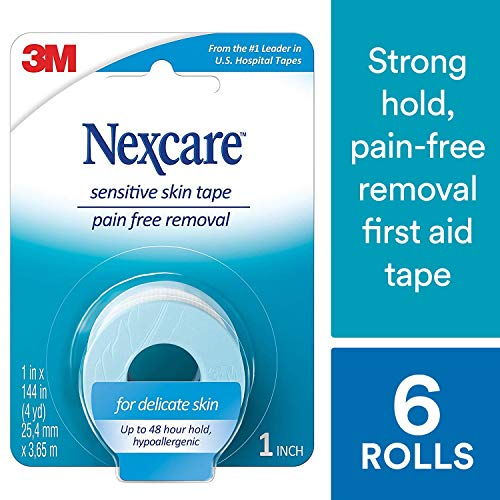 Nexcare Sensitive Skin Tape, From the #1 Leader in U.S. Hospital Tapes, Pain Free Removal, Long Term Adhesion, 1