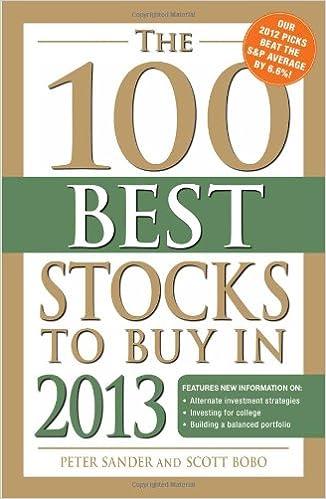 The 100 Best Stocks to Buy in 2013: Peter Sander: 0045079541832