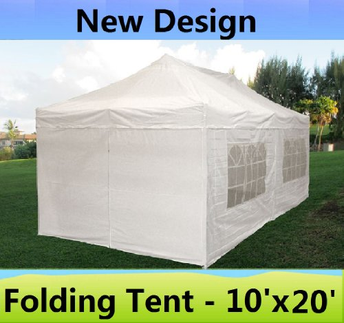 10 X20 Pop Up 6 Walls Canopy Party Tent Gazebo Ez White