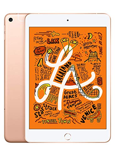 Apple iPad Mini (con Wi-Fi + Cellular, 64 GB) – Oro (Último Modelo)