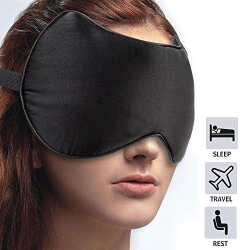 Cute Silk Eye Mask Ultra lightweight & Comfortable Sleep Mask - Great for Travel, Nap, Shift Works