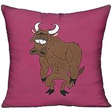 Funny Cartoon Lovely Yak Clipart Sofa Bed Home Decor Throw Pillow Cover Hug Plush Pillow