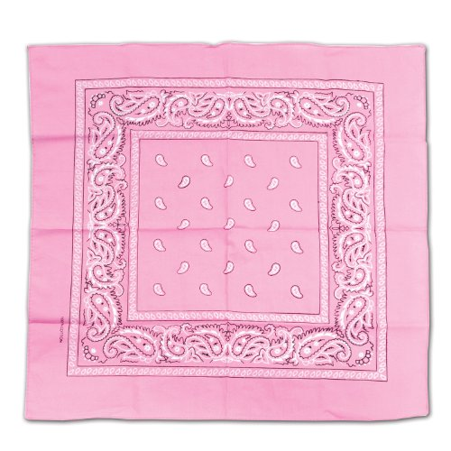 Pink Bandana Party Accessory (1 count) (New Orleans Halloween Ideas)