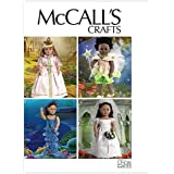 """McCall's Patterns M6452 18"""" (46cm) Doll Costumes, One Size Only"""