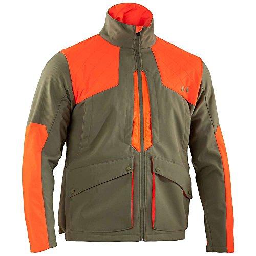 - Under Armour UA Prey Fieldgeneral Softshell Jacket - Men's Thyme / Blaze Orange / Thyme Large