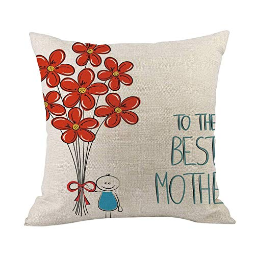 - Pillow case Protector with Zipper,EOWEO Happy Mothers' Day Sofa Bed Home Decoration Festival Pillow Case Cushion Cover(45cm×45cm,Multicolor-M)