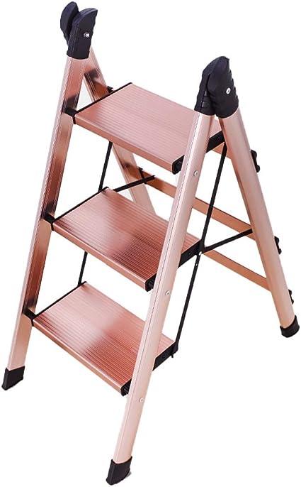 Escaleras multifunción Escalera Plegable Taburete Tres Pasos De Escalera Paso Pequeño De Aluminio Multifunción Puesto De Flores Bastidor De Soporte Carga De Aproximadamente 120 Kg: Amazon.es: Hogar