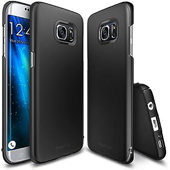 Galaxy S7 Edge Case, Ringke [SLIM Series] Dazzling Slender [Laser Precision Cutouts] Fashionable & Classy Superior Steadfast Bolstered PC Hard Skin cover for Samsung Galaxy S7 Edge - SF Black