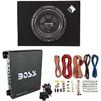 Rockford Fosgate R2S-1X10 10 400W Subwoofer + Enclosure + 1100W Amp + Amp Kit