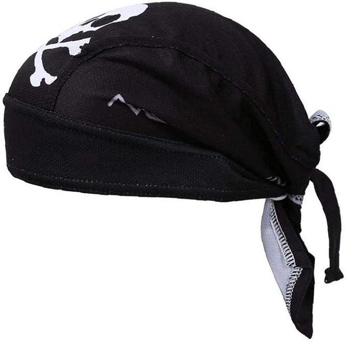 Headwrap Bandana Mütze Biker Kopftuch Piratentuch schwarz