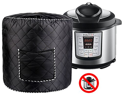 Electric Pressure Cooker Cover 6 QT - Black Dustproof Access