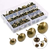 Hilitchi 280-Pieces [4-Size] Antique Brass Tacks