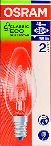 Osram Classic B Halogen Energy Saver SES/E14 42w Clear - Single pack 24064543BES