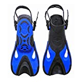 Adjustable Adult Children Kids Super-Soft Snorkeling Flippers Swimming Diving Fins Long Flippers Comfortable