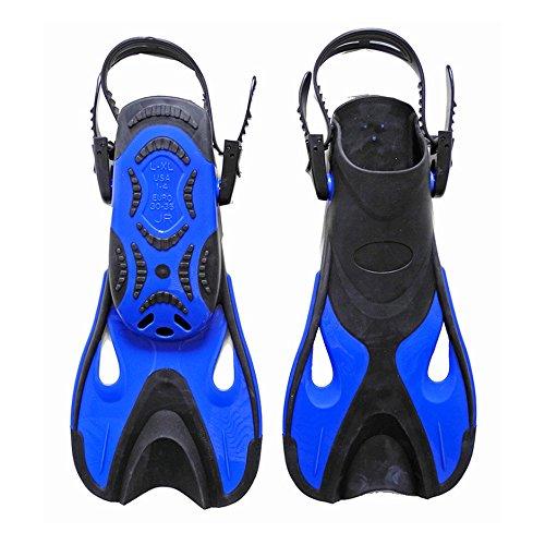 Bleu Et Chaussures Adultes Naisidier Pour Plongée Enfants Courtes Natation Noir Palmes De Blau Eau Land Palmes amp;schwarz amp; D'entraînement Tuba ZwzZqa86