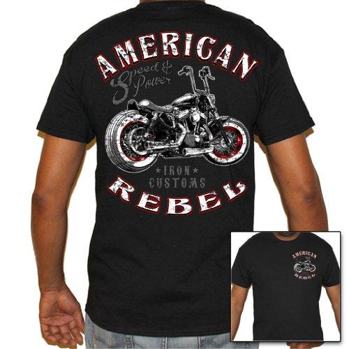 Motorcycle T-shirts Bikers (Biker Life USA Men's American Rebel Biker T-Shirt)