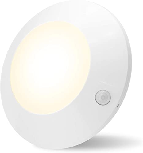 Amazon Com Honwell Motion Sensor Light Indoor Ceiling Light Wireless Motion Sensor Light Battery Powered Led Warm White Light For Closet Cabinet Kitchen Bathroom Hallway Stairs Shower Wall Shed 5inch Home Improvement
