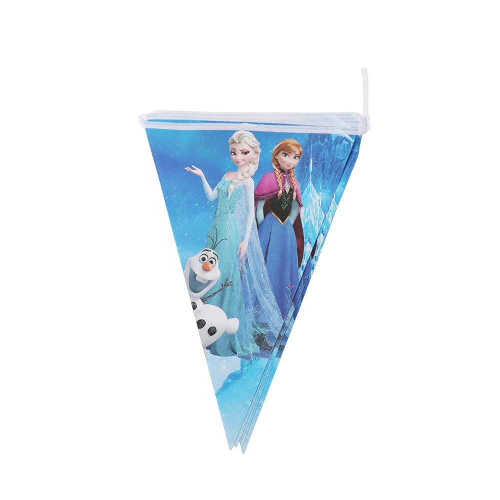 QAnter 104 st/ücke Gefrorene ELSA Und Anna Thema Tassen Servietten Platten Popcorn Liefert Strohhalme H/üte Flagge Einladungskarte Geburtstagsfeier Dekoration