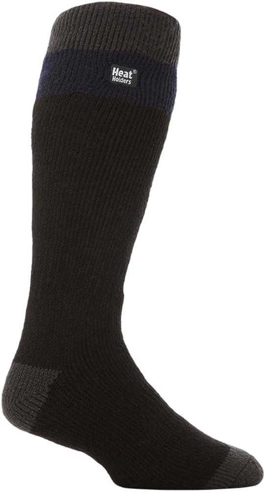Heat Holders Mens No1 Thermal Socks Long Ski Navy blue//Gray 7-12 us
